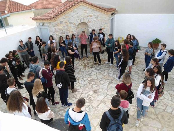 Οι μαθητές της Γ΄ τάξης του Γυμνασίου Κρανιδίου ξεναγήθηκαν στο ΙΛΜΕ στις 19-11-2019.